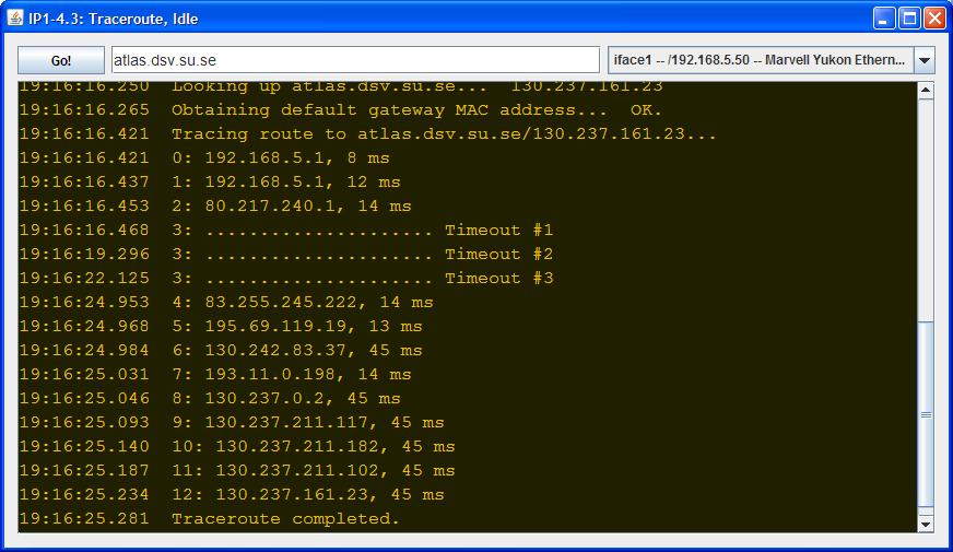 traceroute and ping  icmp traceroute and ping based on jpcap